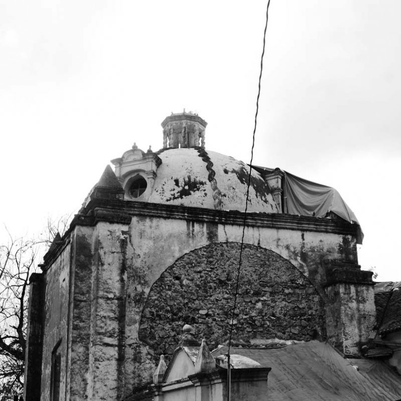 Church dome in San Cristobal de las Casas