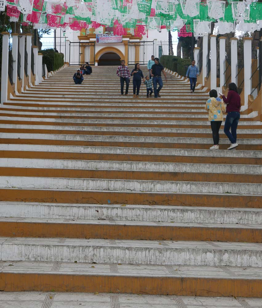 Stairs to the Iglesia de nuestra senora Guadalupe