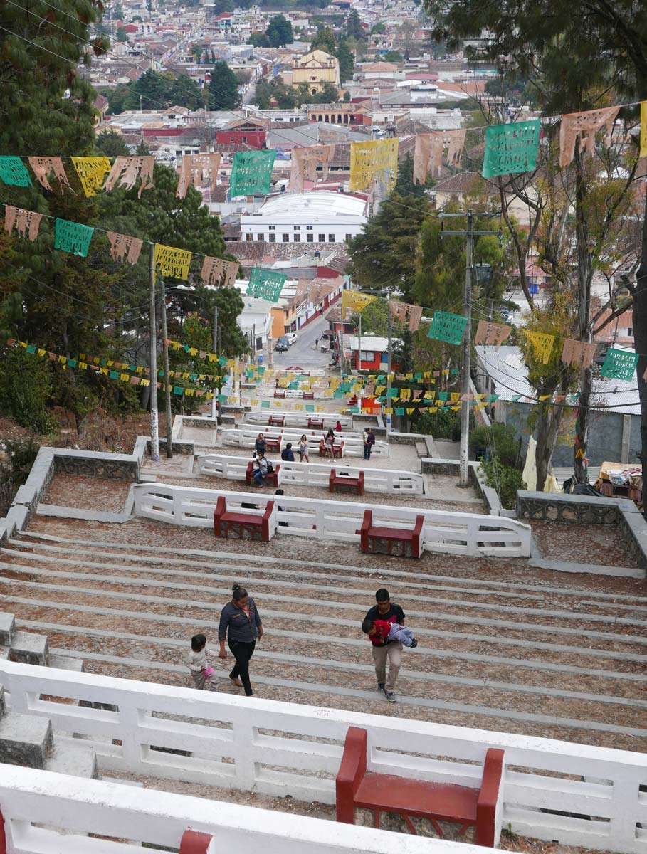 Stairs downwards from the Iglesia de San Cristobal