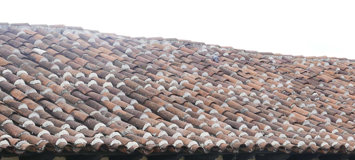 Tiled roof in San Cristobal de las Casas
