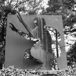 Steel sculpture at Santo Domingo del Cerro near Antigua