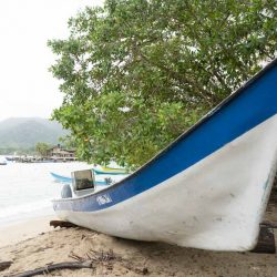 Small boat at the Capurgana beach