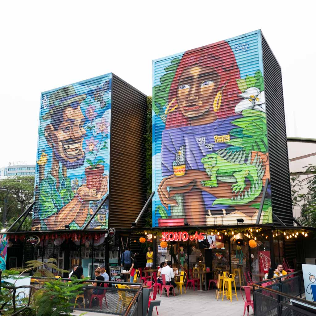 Street art on food court Guayarte