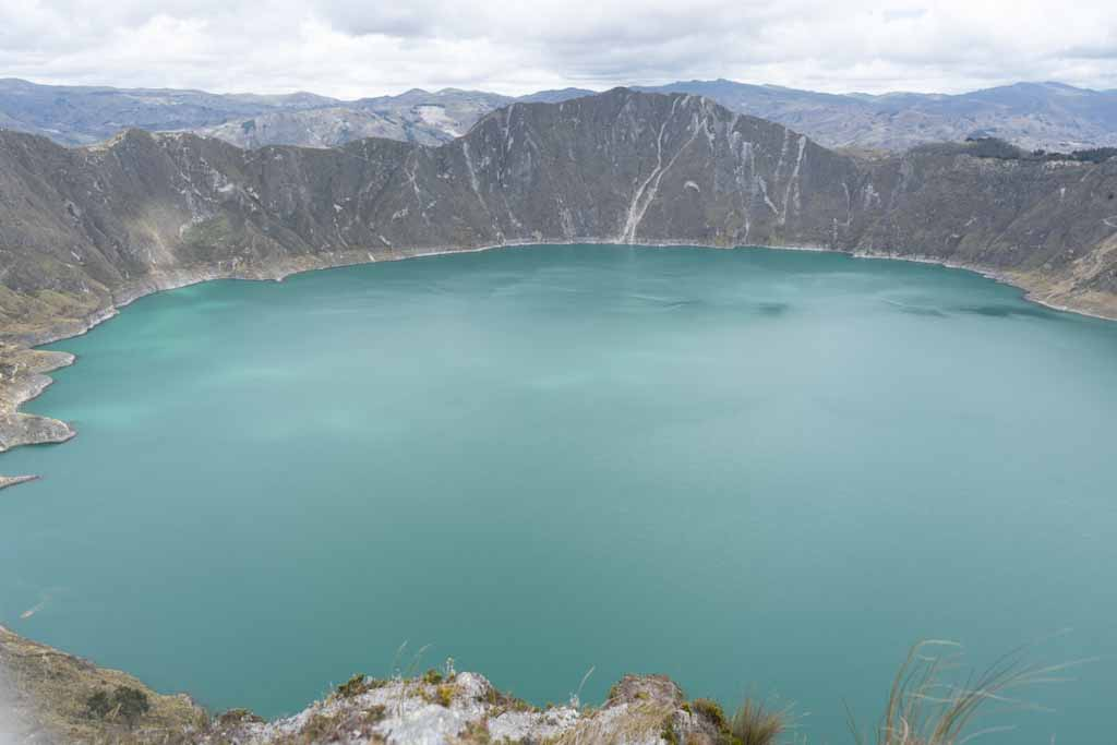 Overview of lake Quilotoa