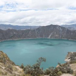 Panorama of lake Quilotoa