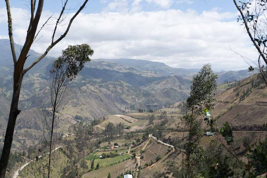 View from Sigchos over the valley