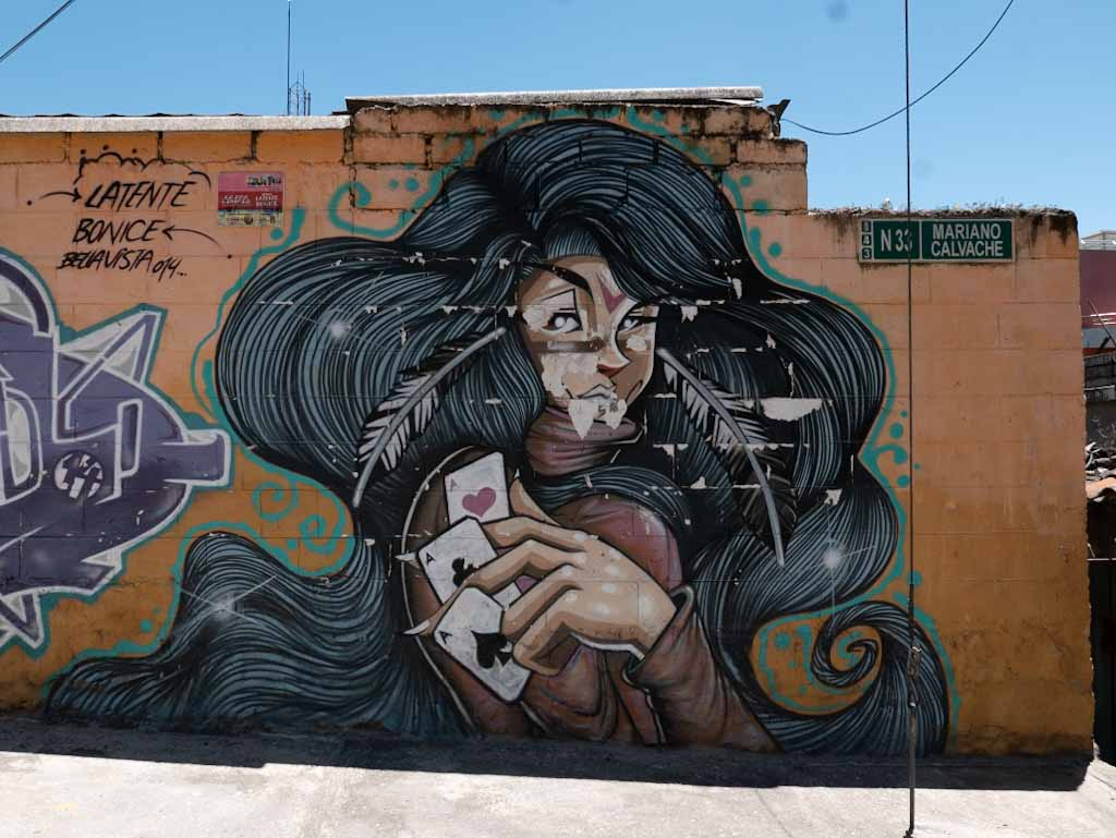 Quito street art: Amy Winehouse