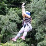 Ziplining in Rio Claro reserve