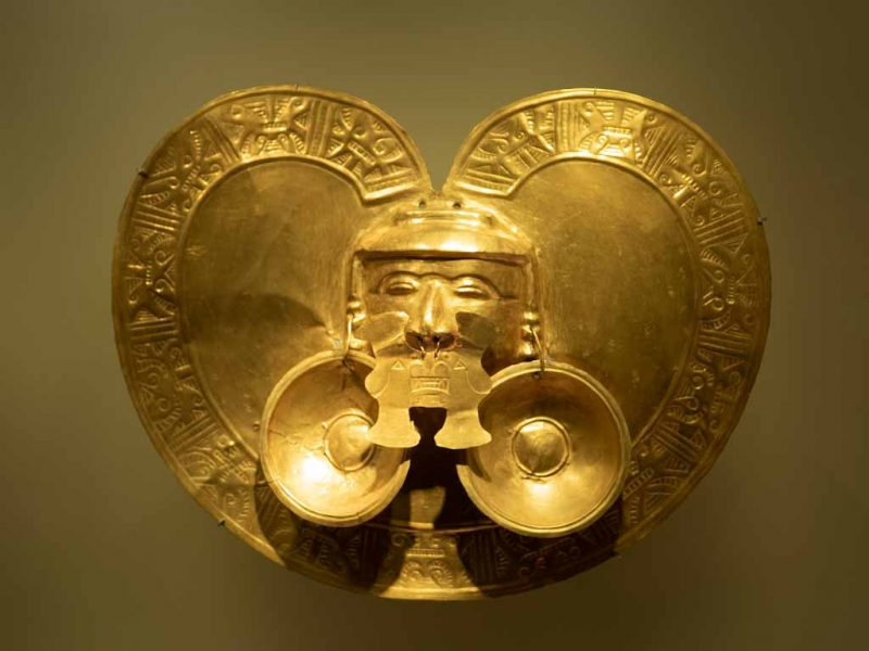Amulet in gold museum Bogota
