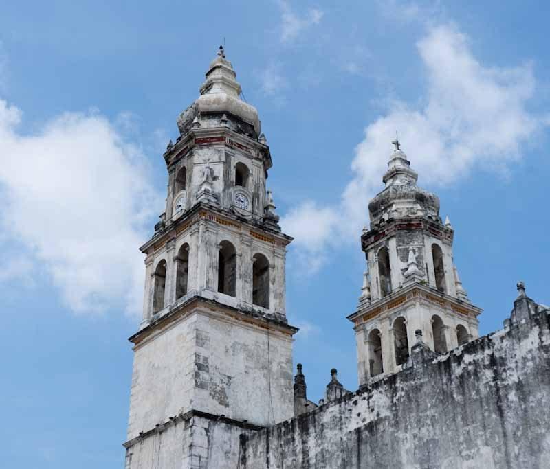 Towers of Lady of Immaculate Conception church Campeche