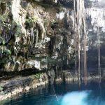 Cenote swimming hole in Hacienda Uxman in Valladolid