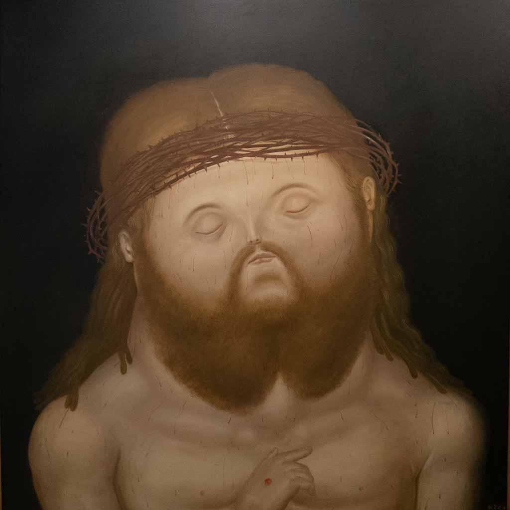 Jesus paintiung by Botero