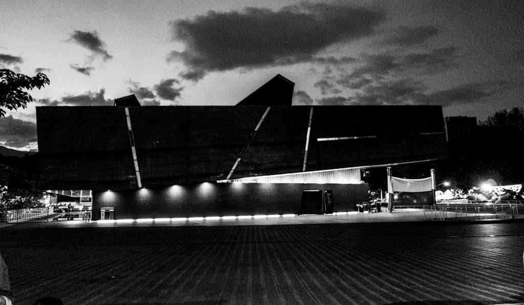 Building at night in Envigado district