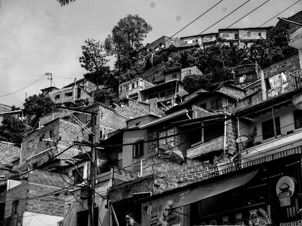 Santo Domingo district in Medellin