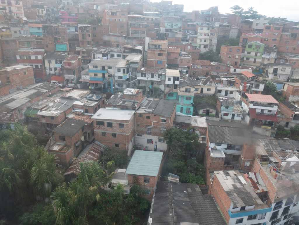 Santo Domingo district from a cable car