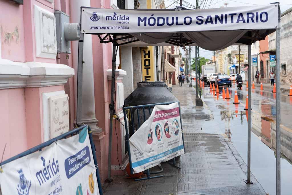 Covid-19 sanitary booth in Merida