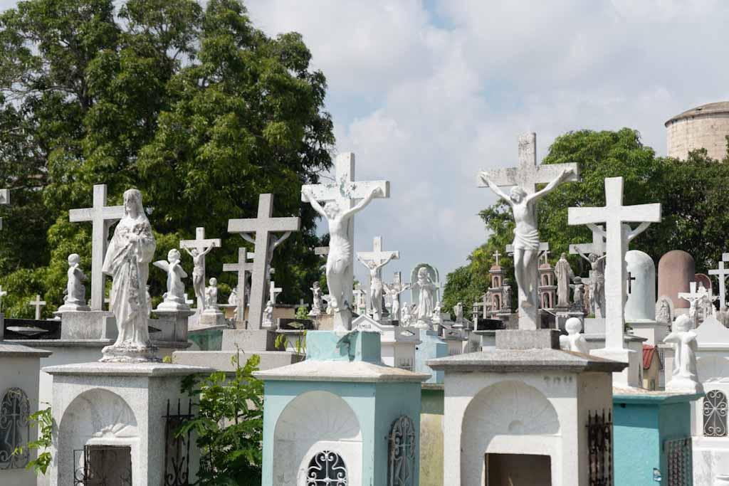 Crosses at general cemetery in Merida