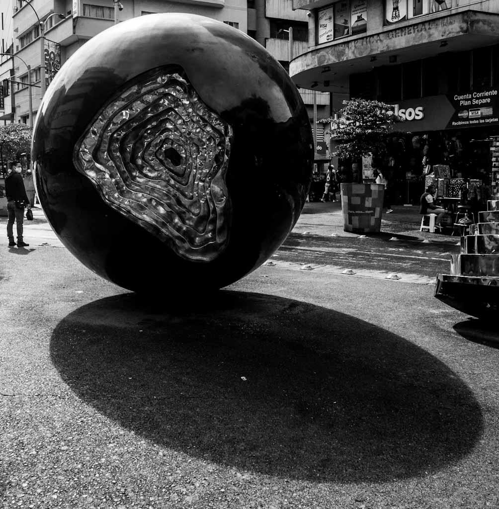 Round sculpture in Medellin